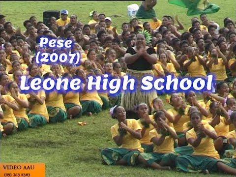 LEONE HIGH SCHOOL :  Pese fa'aleaganu'u (2007)
