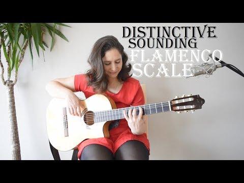 A popular, distinctive-sounding flamenco guitar scale: Phrygian dominant
