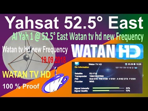 Yahsat 52 5° East Search Watan tv hd new Frequency in All Channel