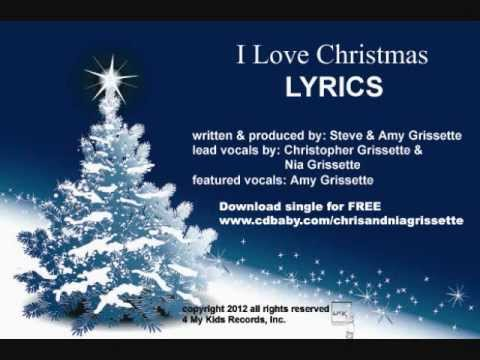 I LOVE CHRISTMAS single LYRICS written by Steve and Amy Grissette ...