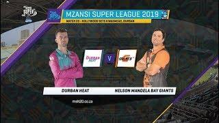 MSL 2019: Match 20, Durban Heat vs Nelson Mandela Bay Giants, Highlights