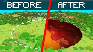 I Transformed The OVERWORLD Into The NETHER In MINECRAFT...