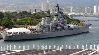 ГАВАЙИ или  Военный корабль «Миссури» (ББ-63) на вечной стоянке в Пёрл-Харборе.