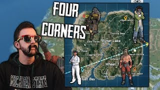 Four Corners Challenge with Burrito Bobby and Friends - Rules of Survival Gameplay (iOS/Android/PC)