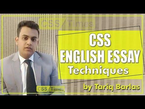 CSS English Essay Techniques By Tariq Barlas