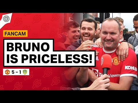 YOU CAN'T PUT A PRICE ON BRUNO!   Andy Tate Fancam   Man United 5-1 Leeds