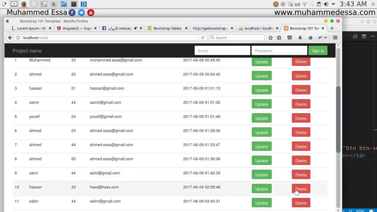 22 Angular JS & PHP with MySQL CRUD - YouTube