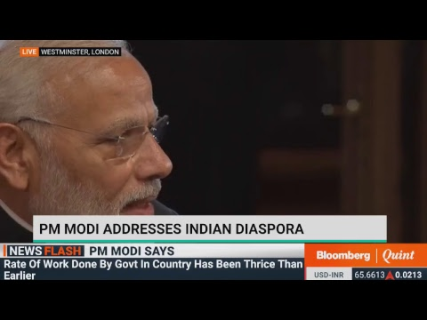PM Modi Addresses Indian Diaspora In London