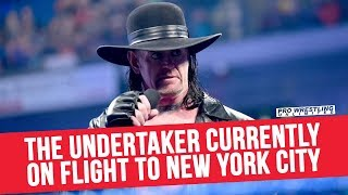The Undertaker Currently On Flight To New York City