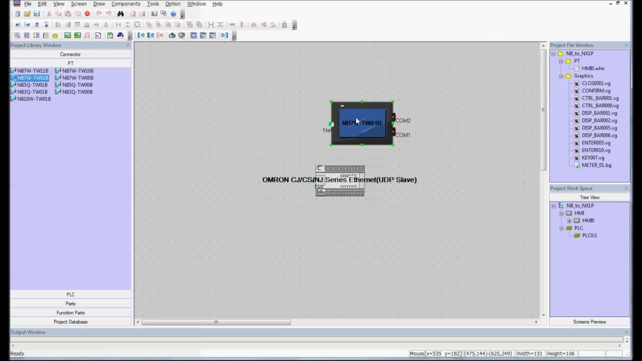 New OMRON HMI PLC NB7W-TW01B Controller
