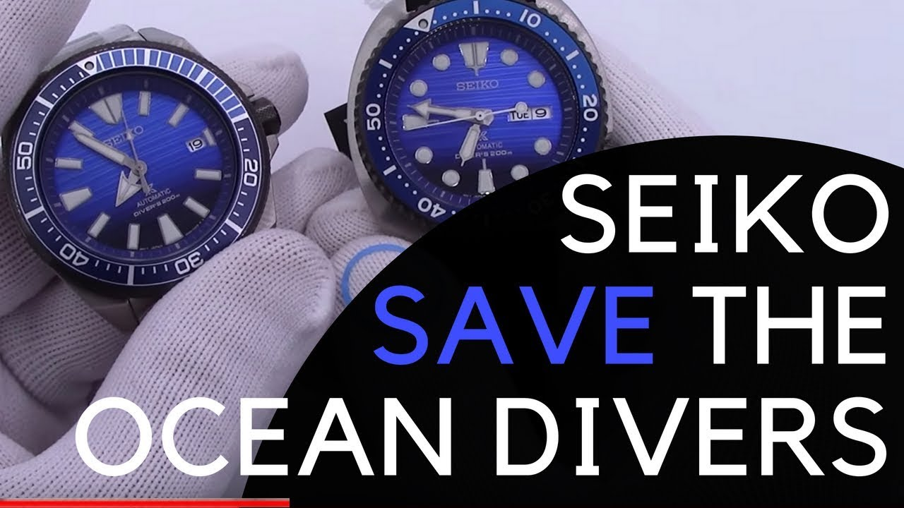 25f2c8e1413 Seiko Save the Ocean Turtle SRPC91   Samurai SRPC93 Collection - New ...