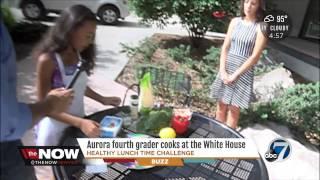 Kiana On Kmgh 7 Denver To Talk About White House Healthy Lunchtime Challenge Visit #kidsstatedinner