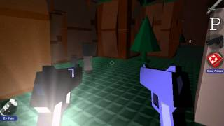 Blockland gameplay Zombie map