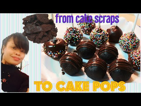 You will never throw your cake scraps again | CAKE POPS | easy tutorial