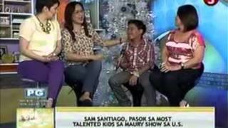 Sam Santiago TV Appearance at Good Morning Club - TV5 Philippines