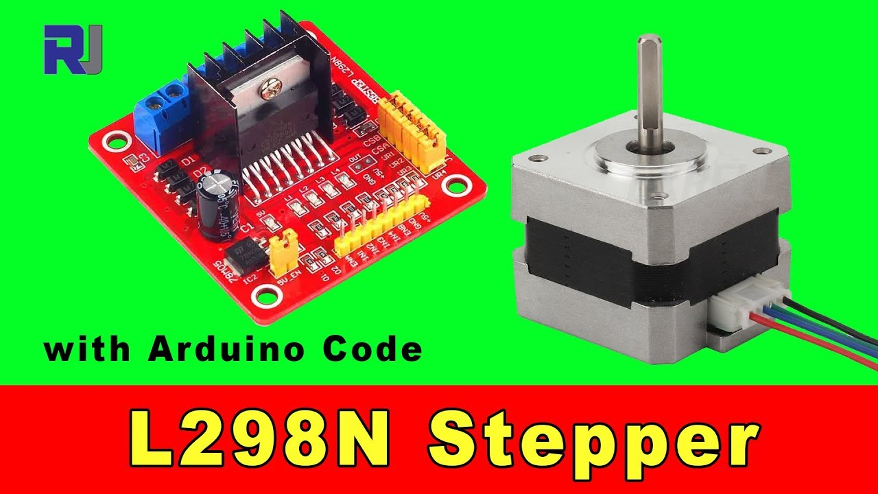 using l298n stepper motor driver to control 4 wires stepper motor [ 1280 x 720 Pixel ]