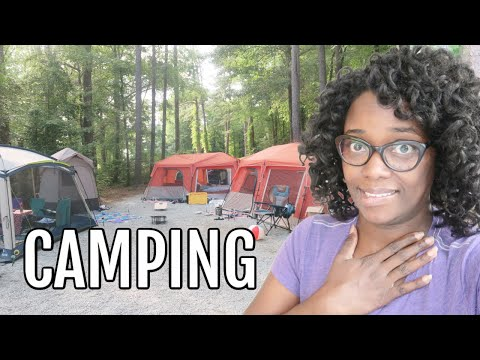 Our first family Camping trip and Setup ?  Tour our tents, camping kitchen, Bathroom and more!