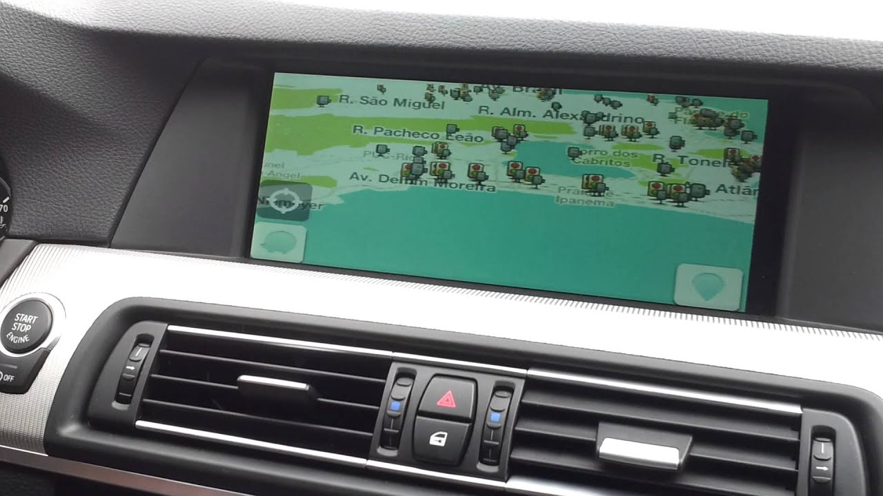 Apple In Car Bmw Sistema Waze Star Motors Youtube