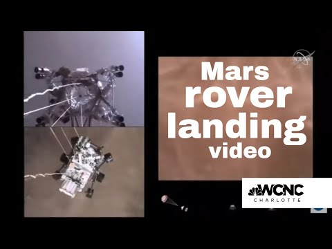 Mars rover landing revealed by NASA