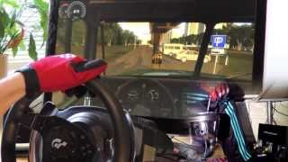 Russian Truck Simulator 2013 - 1080° Steering Wheel PC gameplay, City Car Driving 1.3 HD 2014