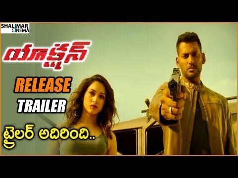 Action Telugu Movie Release Trailer    Vishal, Tamanna    Shalimarcinema