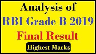 Analysis of final result of RBI Grade B 2019.