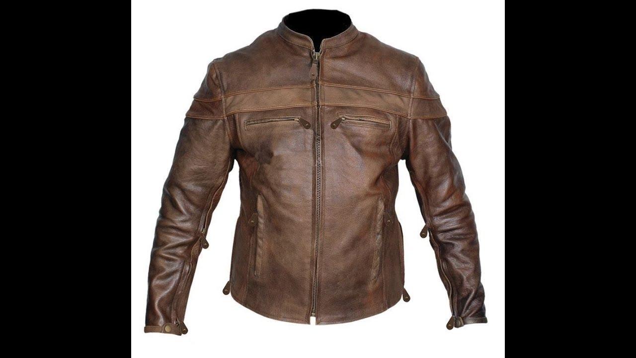 Buffalo Hide Cafe Racer Motorcycle Jacket