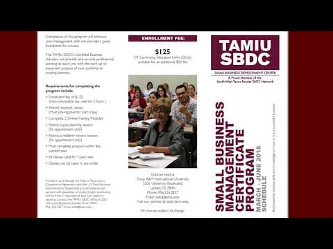 Living Laredo and the TAMIU SBDC discuss the up coming Small Business Management Certificate Program