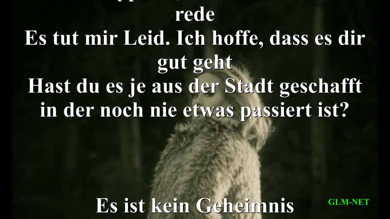Adele Hello Lyrics Deutsch Youtube