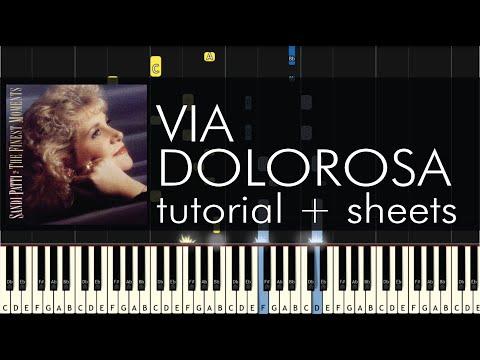 Sandi Patty - Via Dolorosa - Piano Tutorial - How To Play