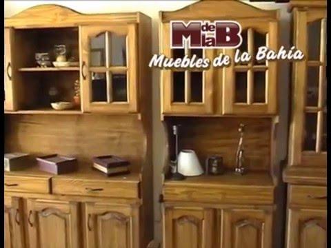 MUEBLES DE LA BAHIA Juegos de comedor en pino - YouTube