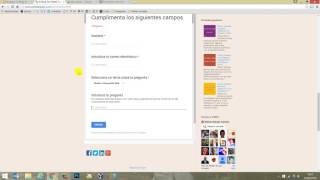 Cómo crear un formulario de contacto en Google Drive 2016