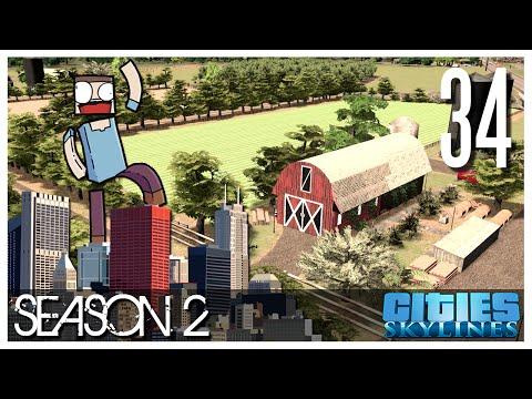 Cities Skylines - S2 Ep.34 : Farms!