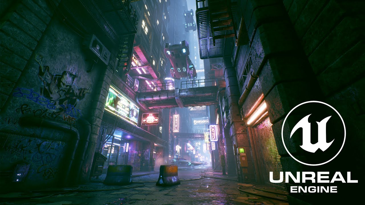 Cyberpunk City Alley - Unreal Engine 4