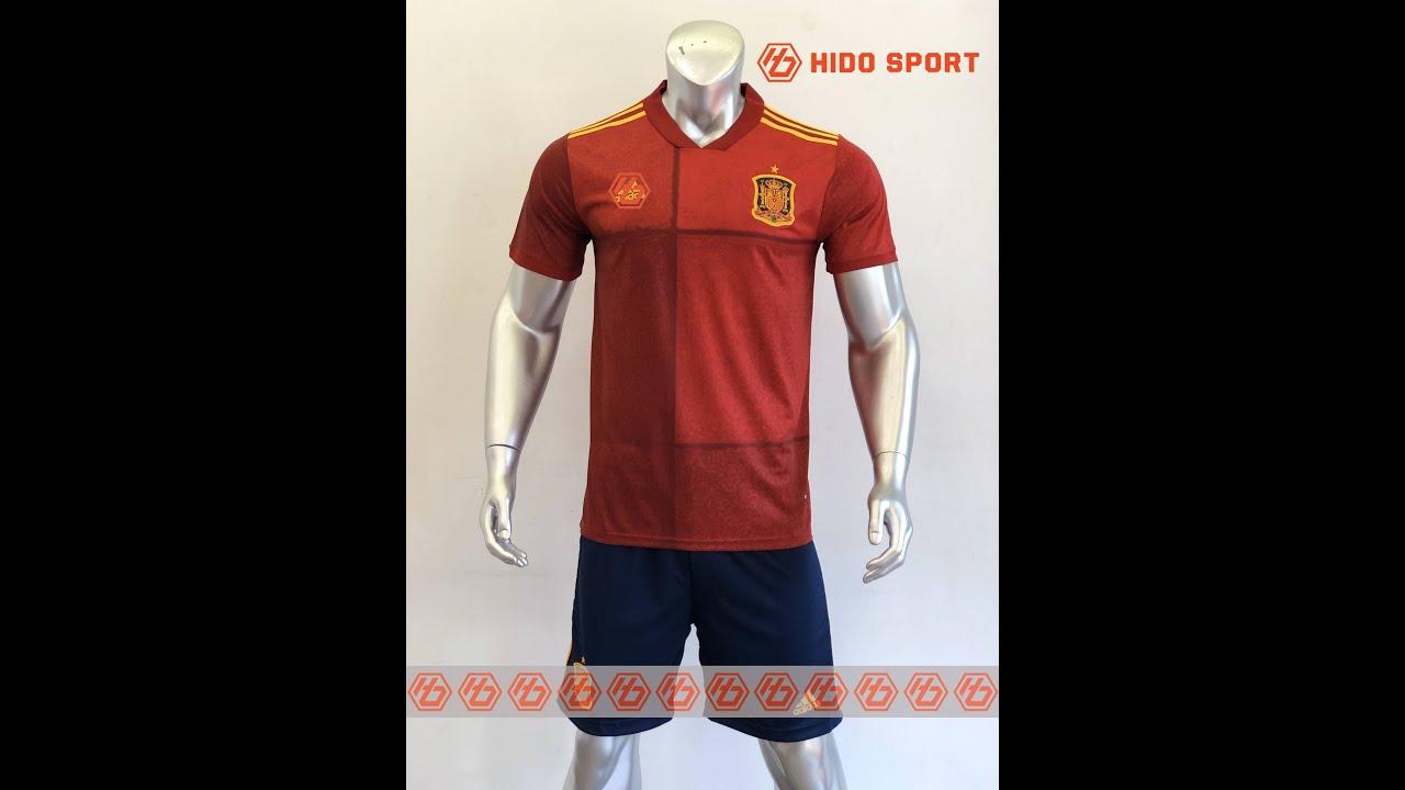 Quần áo bóng đá TÂY BAN NHA màu ĐỎ Hàng Thái đồ đá banh mới 2020-2021