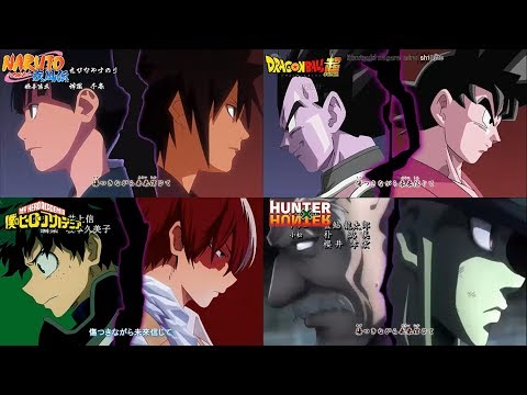 [MAD] Naruto Shippuden / Dragon Ball Super / Boku No Hero A. / Hunter X Hunter (Guren 紅蓮) ENG. VERS.