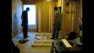 11 August 2013 - Office Build - Closet Walls
