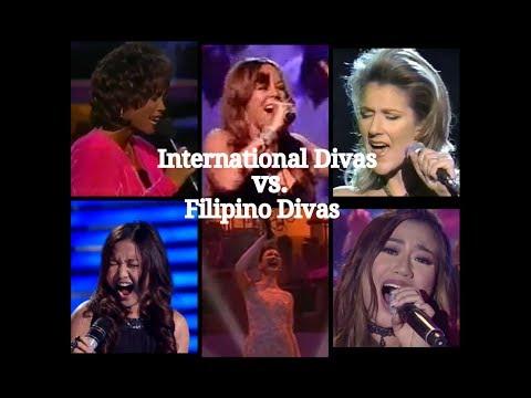 Filipino Divas vs  International Divas Who's Better in LIVE ?