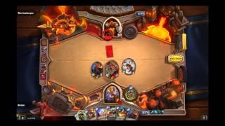 Magni Bronzebeard Warrior Hero Gameplay in Hearthstone