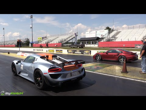 10 second hybrid hauls ass porsche 918 spyder blasts down the quarter mile. Black Bedroom Furniture Sets. Home Design Ideas