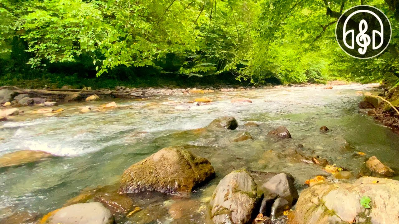 Relaxing Gentle Sound of Mountain River For Sleep, Relaxation and Meditation
