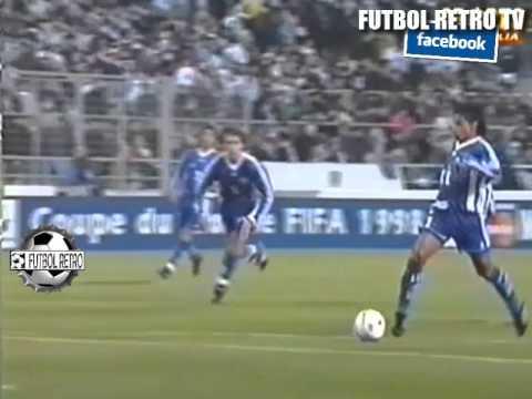 Europa 5 vs Resto del Mundo 2 AMISTOSO Marsella 1997 Batistuta, Ronaldo, Zidane