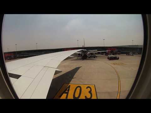 Emirates B777-300 Take off from Indira Gandhi International Airport