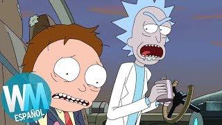 ¡Top 10 Momentos MALVADOS de RICK en Rick y Morty!