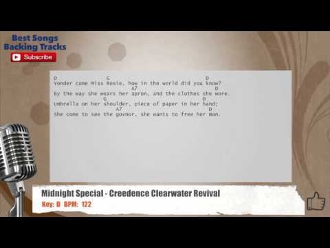 The Midnight Special - Creedence Clearwater Revival Vocal Backing Track with chords and lyrics