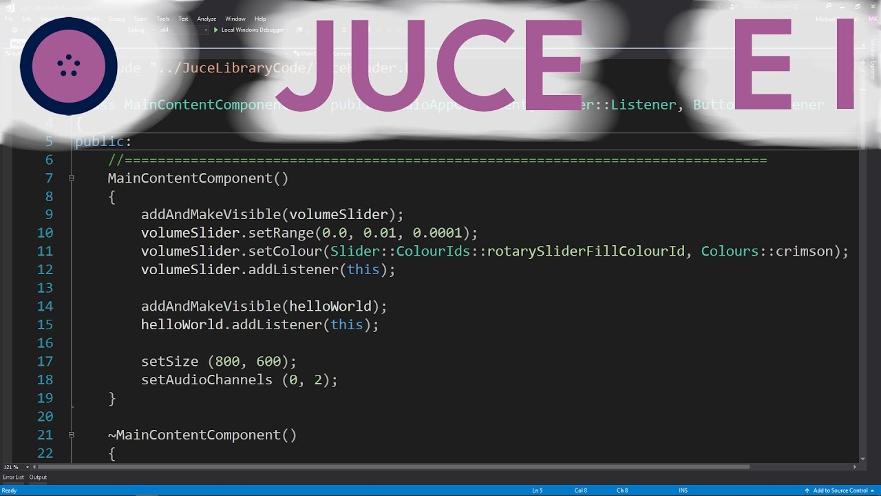 GUI Elements and Audio Ouput | JUCE | #001