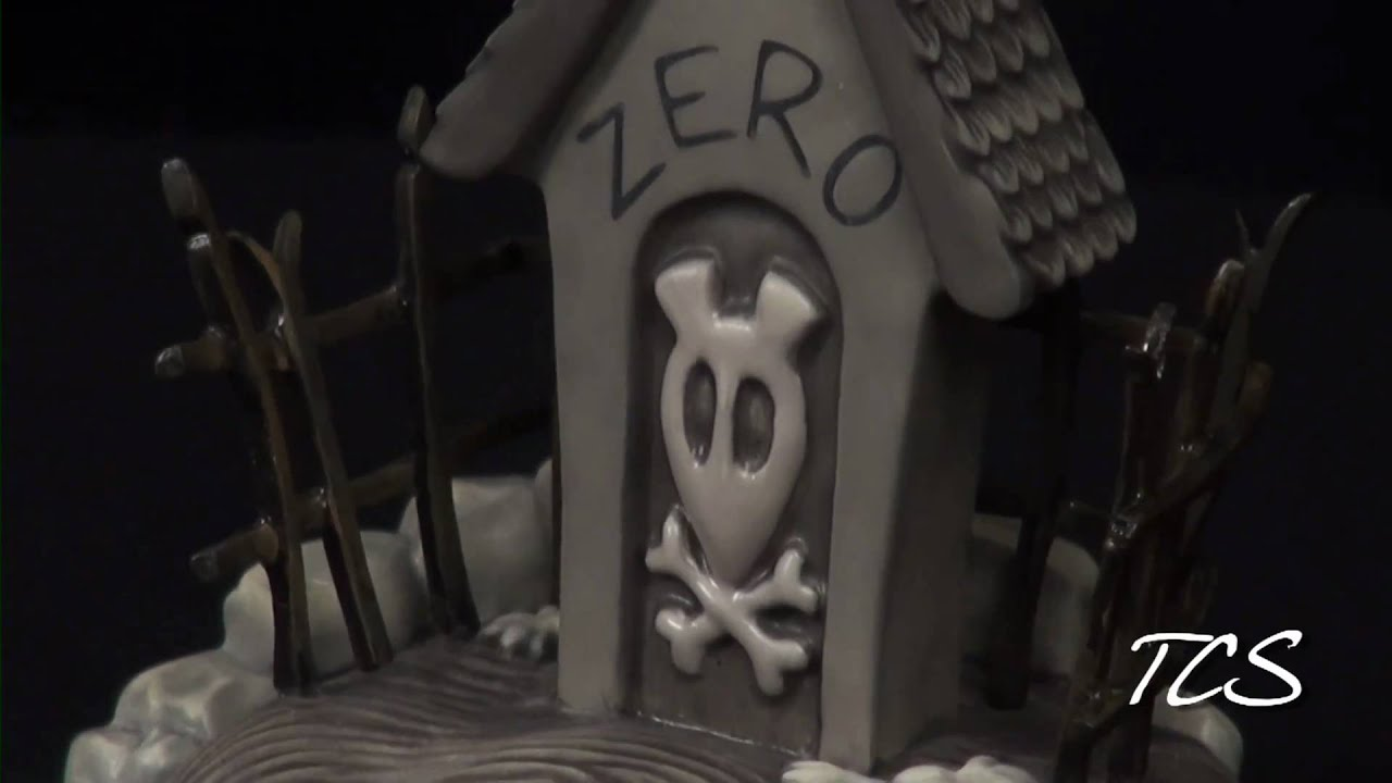 Wdcc the nightmare before christmas zero39s dog house youtube for Zero dog house