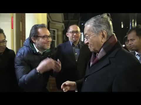 PM arrives in London for Oxford Union Talk [NSTTV]   New ...
