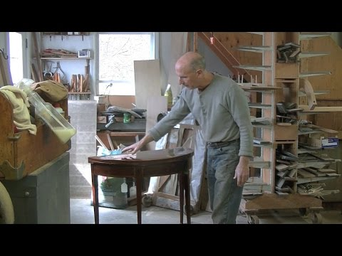 Restoring a Federal Card Table - Thomas Johnson Antique Furniture Restoration