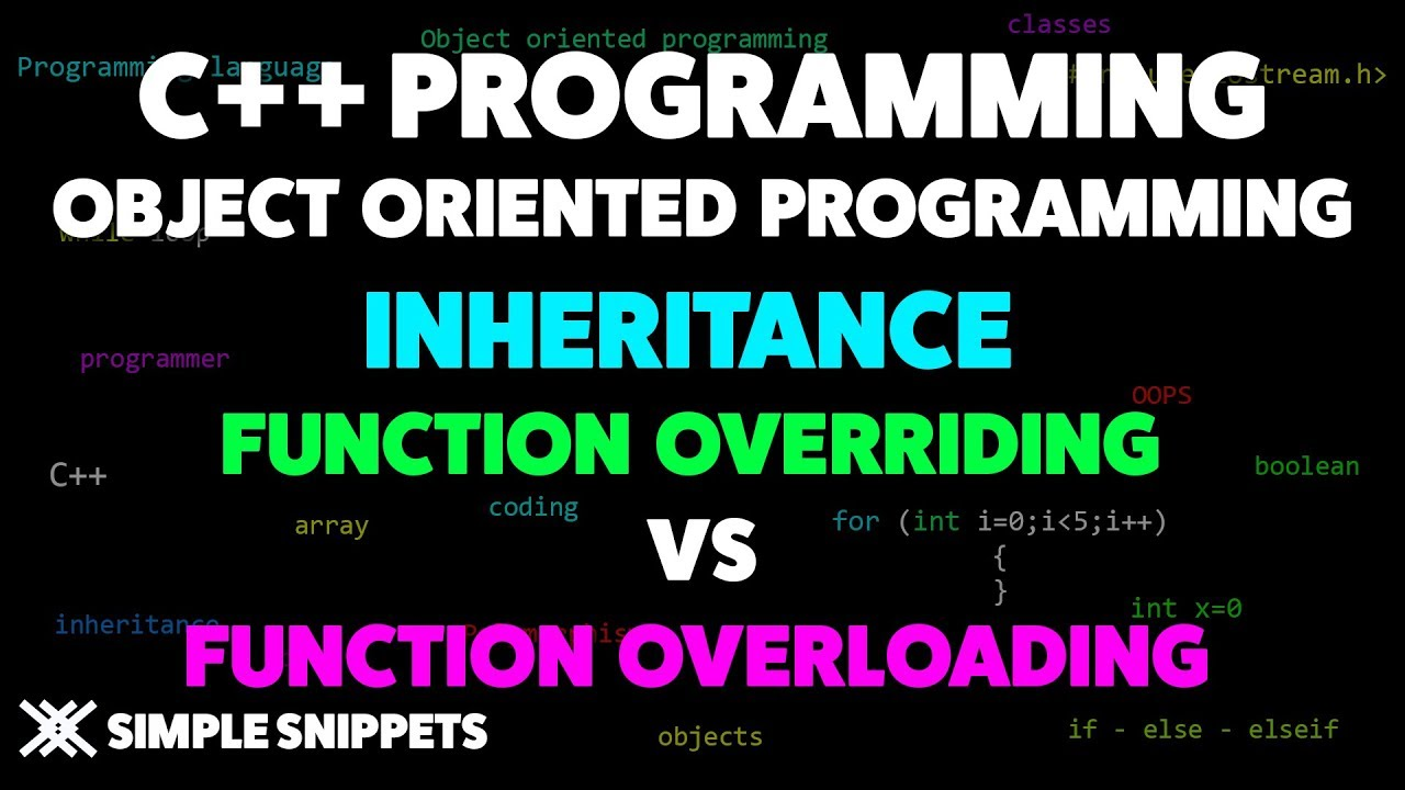 Function Overriding in C++ - Simple Snippets